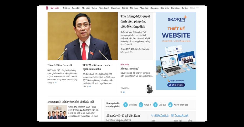 Layout Website: Bố cục trang web kiểu Báo chí (2)