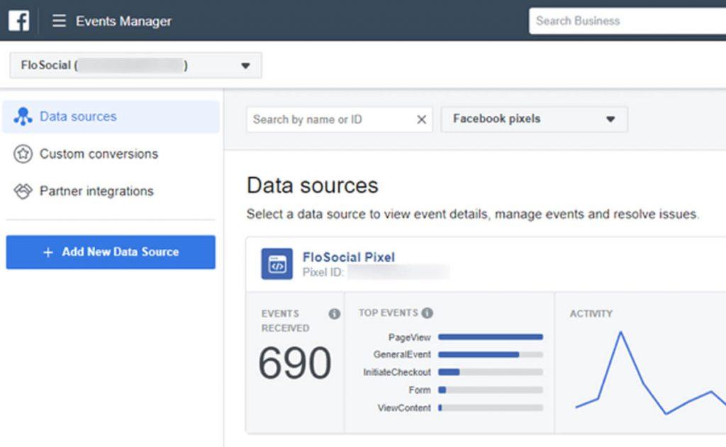 Facebook Events Manager cho phép bạn quản lý các Pixel và API chuyển đổi để theo dõi hành động của khách hàng