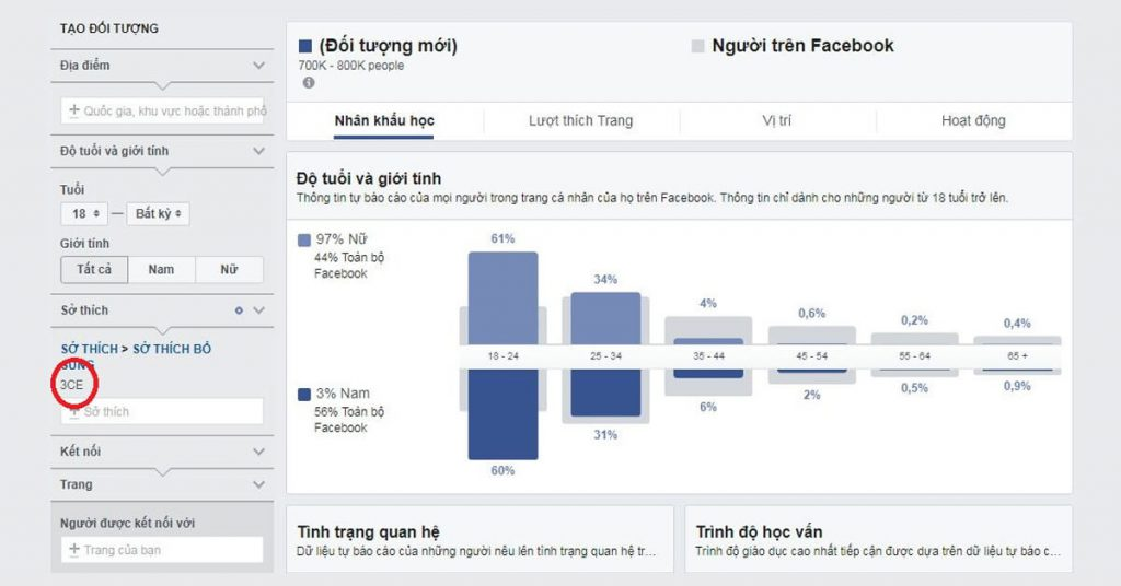 Facebook Audience Insights là giải pháp thay thế cho Facebook Analytics