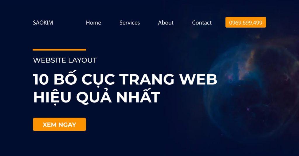 10 Bố cục trang Web (Layout Website) hiệu quả nhất