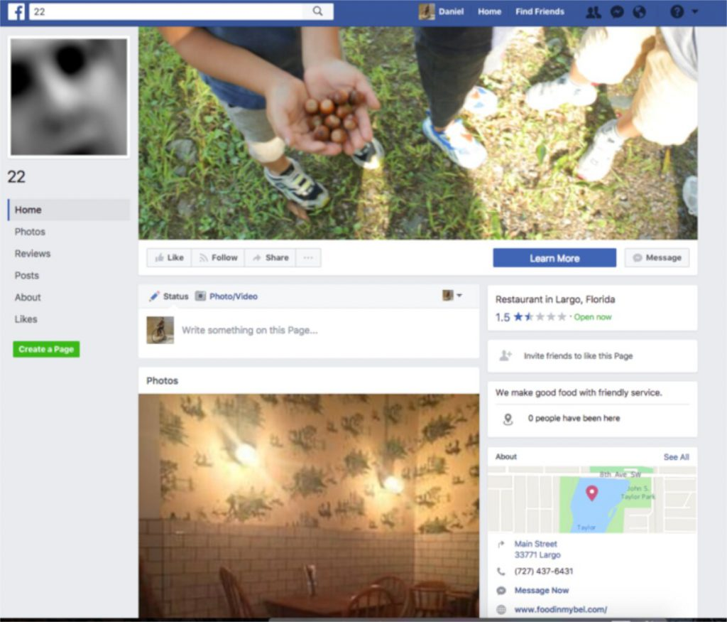 Facebook Page kém chất lượng