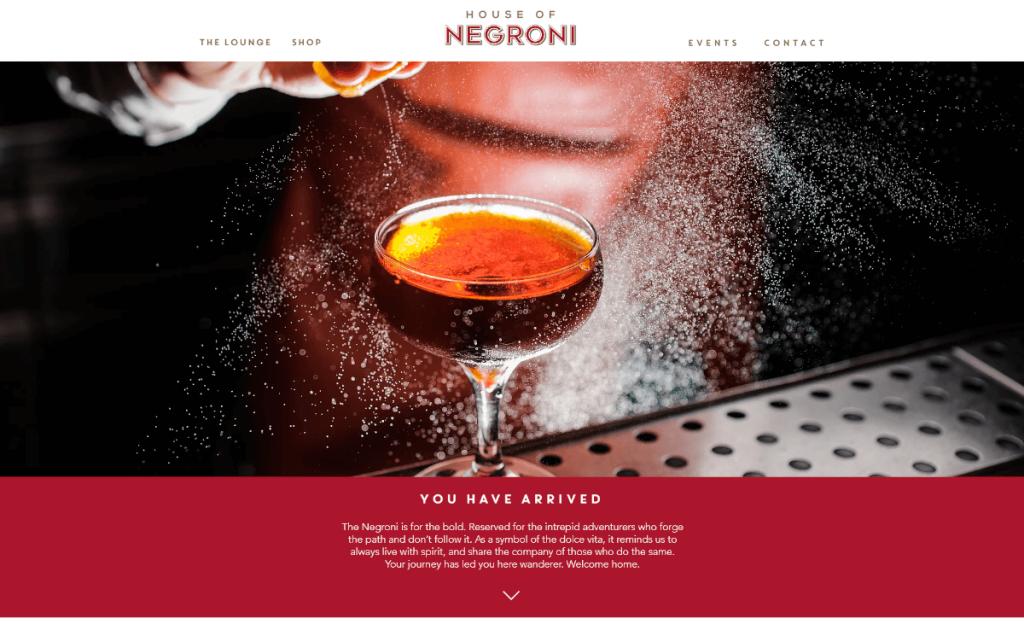 House of Negroni thiết kế web nhà hàng
