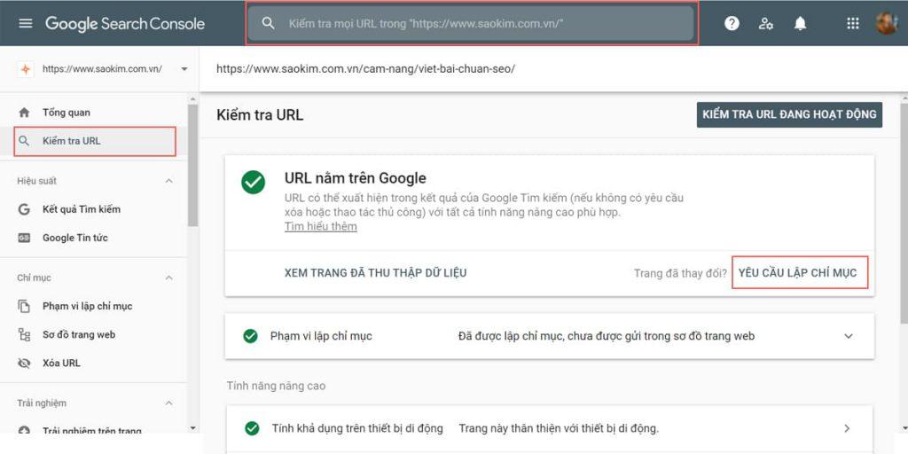 Kiểm tra cách Google thu thập dữ liệu của website