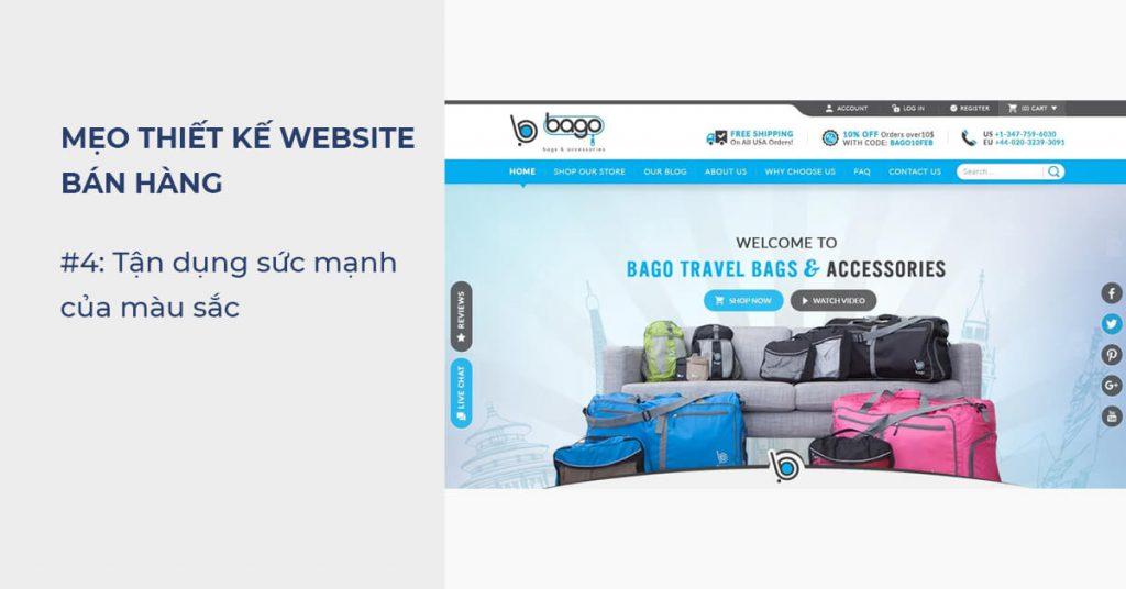 Mẹo thiết kế Website bán hàng: Tận dụng sức mạnh của màu sắc