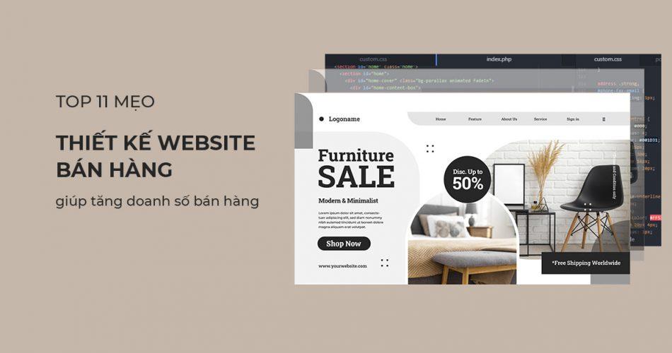 Mẹo thiết kế website bán hàng hiệu quả, giúp tăng doanh số