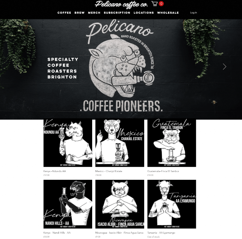 Pelicano coffee pioneers thiết kế web nhà hàng