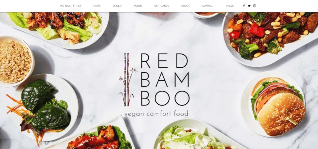 Red Bamboo thiết kế web nhà hàng
