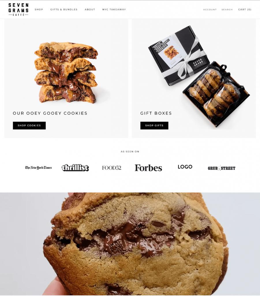 Seven grams caffe thiết kế web nhà hàng
