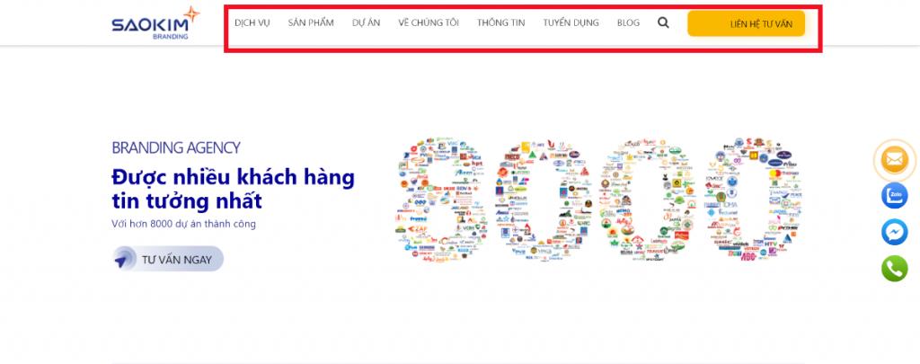 Tiêu đề thiết kế web